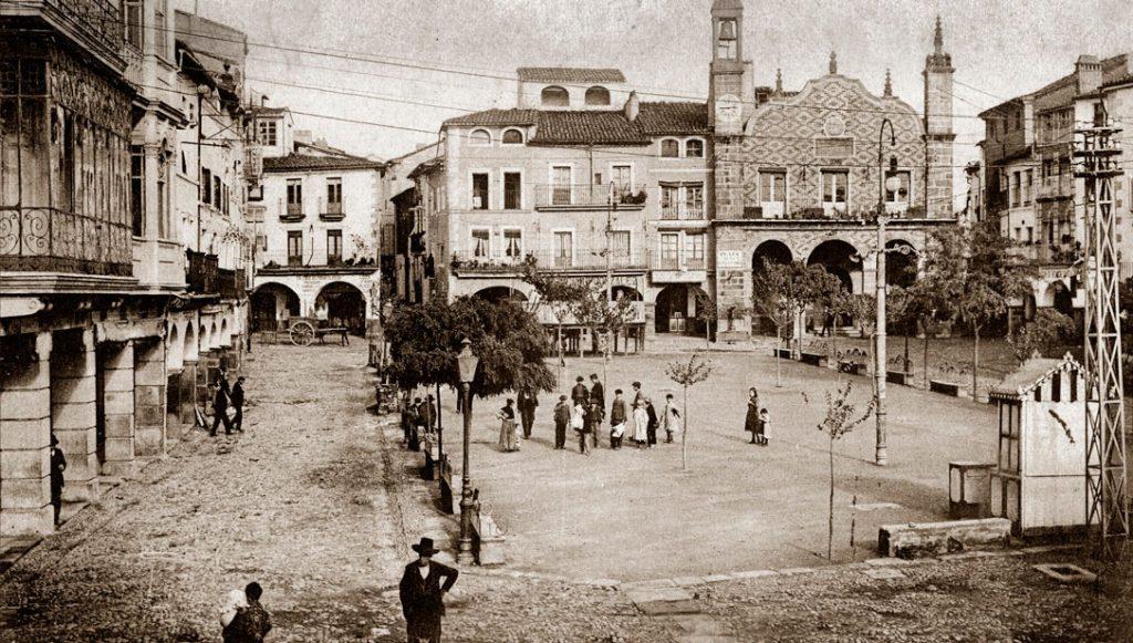 Plaza Mayor de Plasencia antigua